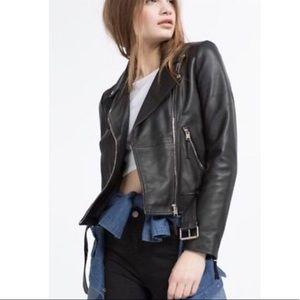 Zara Black Faux Leather Jacket